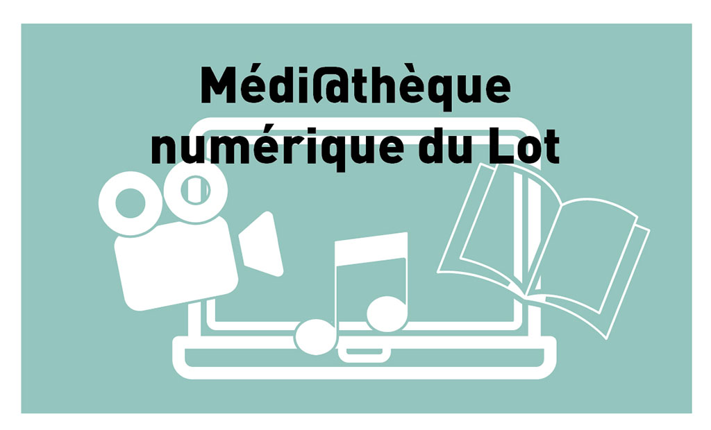 Bouton médiathèque numérique du Lot